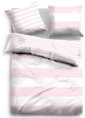 Rosa Wendebettwäsche, Tom Tailor, »Siena«, im Streifen Design