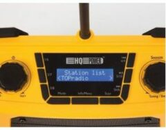 Gele HQ-Power ROBUUSTE WERFRADIO - DAB/DAB+/FM - 2 x 2.5 W