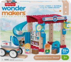 Fisher-price Bouwpakket Wonder Makers Postkantoor Hout 35-delig