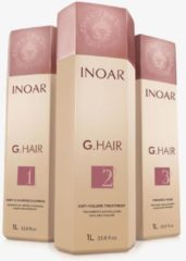 INOAR GHAIR KIT 3x1000ml BRAZILIAN KERATIN TREATMENT BLOW DRY HAIR STRAIGHTENING