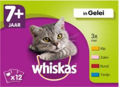 Whiskas Mix Selectie in Gelei 7+ Jaar - kattenvoer -12 x 100 g