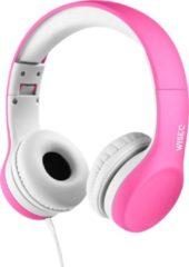 WISEQ Junior – Koptelefoon kind bedraad - Kinderkoptelefoon met kabel voor meisjes tot 11 jaar oud - Roze