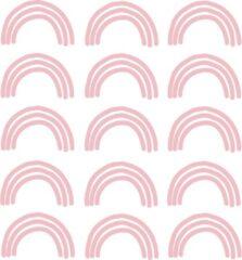 LM Baby Art My little rainbow - Regenboog muurstickers roze 15st - 6x10cm
