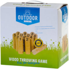 Bruine Van der Meulen Outdoor Play Wood Throw Game met getallen