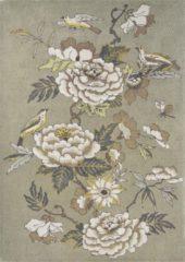Wedgwood - Paeonia Taupe 37904 Vloerkleed - 200x280 cm - Rechthoekig - Laagpolig Tapijt - Klassiek, Landelijk - Meerkleurig