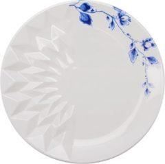 Blauw Vouw Gebaksschoteltje | set van 2 | Heinen Delfts Blauw | Design | Servies | Delfts Blauw |Romy Kühne | Origami | Gebakschotel | Gebak |