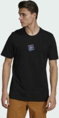 Zwarte Adidas Five Ten Heritage Logo T-shirt
