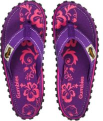 Paarse Gumbies Teenslipper ISLANDER CANVAS FLIP-FLOPS - PURPLE HIBISCUS - Maat 42