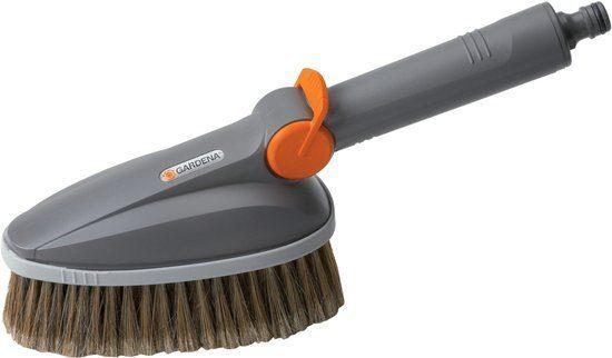 Afbeelding van Transparante GARDENA Cleansystem Handwasborstel - Reinigen tuinmeubels - garagedeuren - auto's