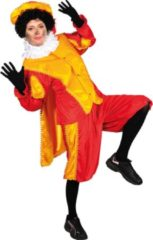 CSG Piet velours met cape rood/geel (mt S)