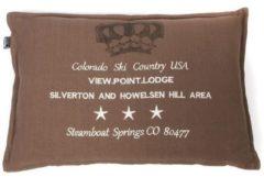 Bruine In The Mood Colorado - Sierkussen - 40x60 cm - Taupe