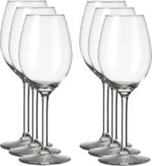 Transparante Merkloos / Sans marque 6x Wijnglazen voor rode wijn 250 ml Esprit - 25 cl - Rode wijn glazen - Wijn drinken - Wijnglazen van glas