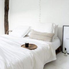 Coco & Cici zacht, luxe en duurzaam beddengoed - dekbedovertrek - eenpersoons - 140 x 220 - wit