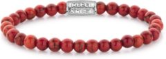 Rebel & Rose Rebel and Rose RR-60028-S Rekarmband Beads Red Delight zilverkleurig-rood 6 mm M 17,5 cm