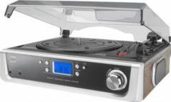 Schallplattenspieler mit Lautsprechern, Radio, Audio Ausgang und Kopfhöreranschluss Dual DTR 50 P