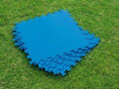 Blauwe Eva Zwembad tegels - 10 stuks + 2 GRATIS - 30 x 30 CM - 1 CM dik - Zwembad ondergrond - Foam ondertegels - Fitnessmat