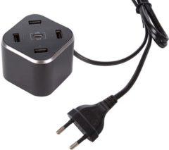 USB-laadstation Velleman PSSEUSB34 PSSEUSB34 (Thuislader) Uitgangsstroom (max.) 8400 mA 5 x USB, USB-C bus