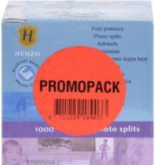 Transparante Fotoplakkers - Henzo - Plakstrips - 3x 1000 stuks - Wit