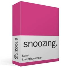 Moment By Moment Snoozing flanel kinder hoeslaken Fuchsia Wiegje (40x80 cm) (190 fuchsia)