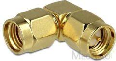 Gouden DeLOCK 88826 RP-SMA SMA Goud kabeladapter/verloopstukje