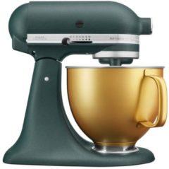 Donkergroene KitchenAid Artisan keukenrobot/mixer 4,8 liter 5KSM156VGEPP - Pebbled Palm