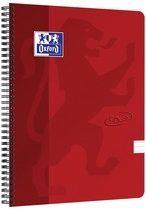 Oxford Touch spiraalblok, ft A4, 140 bladzijden, rood, gelijnd