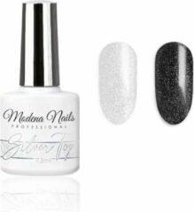 Zilveren Modena Nails Silver Top Coat Gellak 7,3ml.