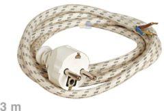 Universeel Kabel Bügeleisen-Anschlusskabel 3m für Bügeleisen 10003214