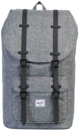 Afbeelding van Grijze Herschel Supply Co. Men's Little America Backpack - Raven Crosshatch/Black Rubber