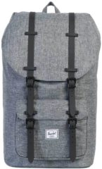 Grijze Herschel Supply Co. Men's Little America Backpack - Raven Crosshatch/Black Rubber