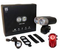 Lzr Lights FXR-05 USB Fietverlichtingsset - 500 Lumen - UltraHelder - Wit/Rood