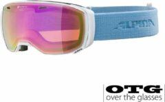 Alpina Estetica QHM Polariserend Skibril - 2020 - Wit Lichtblauw | Categorie 2
