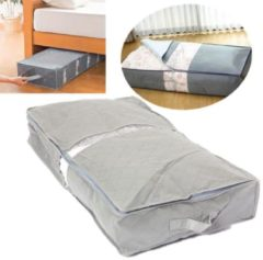 Meco IPRee® 75.6×39×12.6cm Under-Bed Organizer Under the Bed Storage Bag Box Gray for Clothes Blankets