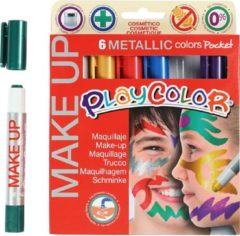 Creativ company Playcolor Make up, 6x5 gr, kleuren assorti
