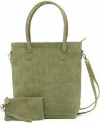 Groene Zebra Trends Natural Bag Kartel Rits XL Army groen 552205