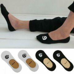 FrontRunner Secret Socks | 4 paar Sokken | Wit maat 43-46