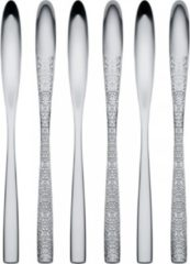 Zilveren ALESSI Dressed Latte macchiato lepel edelstaal 21 cm, per 6