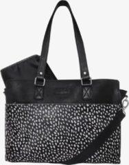 Zwarte Mozz Bags MOZZ Luiertas Wild Ones Savanna Zilver - Dots Reverse