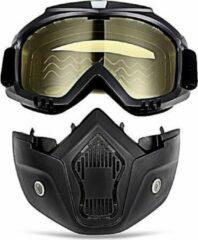 Merkloos / Sans marque Motor-Fiets-Scooter-Ski bril & Masker I Anti-UV lens I Geel