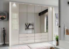 Wiemann Kleiderschrank, mit Glas und Spiegel, inkl. Schubkästen