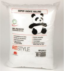 Witte Restyle Panda Vulling kussen Panda vulling 500 gram - Synthetische kussenvulling - knuffelvulling