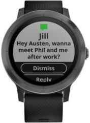 Garmin vivoactive 3 GPS-Smartwatch Größe one size schwarz/schiefer