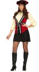 Rode Guirca Piraat & Viking Kostuum | Doodshoofd Pirate | Vrouw | Maat 42-44 | Carnaval kostuum | Verkleedkleding