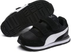 Witte PUMA Vista V Inf Sneakers Kinderen - Puma Black / Puma White - Maat 22