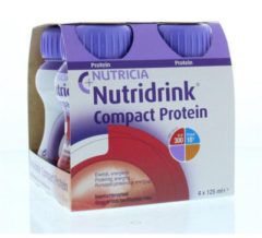 Nutridrink Compact protein rode vruchten 125 gram 4x125 Gram