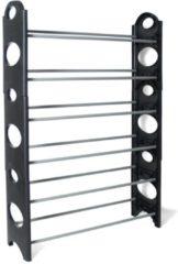 Grijze Schoenenrek - 6 etages - zwart - 94x64cm
