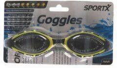 SportX Anti chloor zwembril zwart/geel voor volwassenen