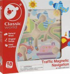 Classic World Magneetspel Doolhof verkeer in de stad