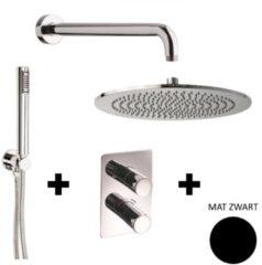 Inbouw Regendouche Set Sanimex Giulini Thermostatisch Mat Zwart