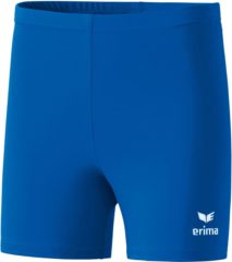 Blauwe Erima Verona Tight Short Junior Sportbroek - Maat 152 - Unisex - blauw